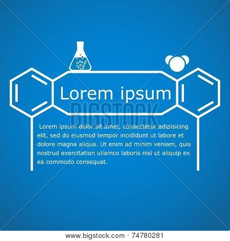 Stylized Chemical Headline On Gradient Background