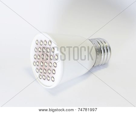 Three light-emitting diode lamp isolated on a white background