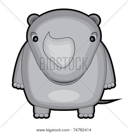 cartoon illustration of a baby rhino