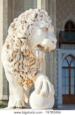 Medici Lion Near South Facade Of Vorontsov Palace
