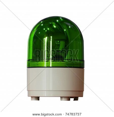 Green Siren Isolated On A White Background