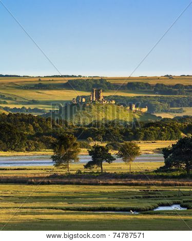Corfe Castle And Poole Harbour