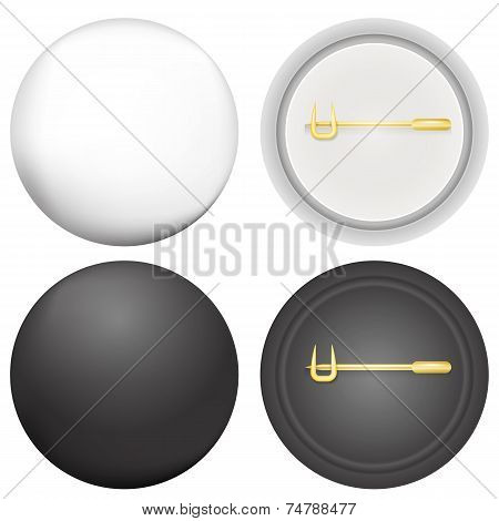 Vector illustration of blank badges mock-up