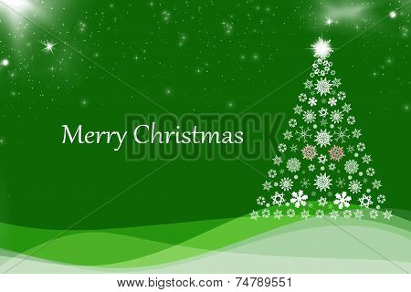 Christmas Background With Christmas Tree,