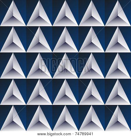 Blue Regular Triangular Background