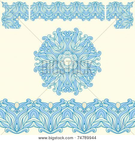 Vector ornate vintage frame border