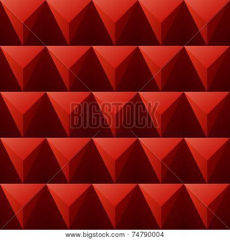 Red Regular Triangular Background