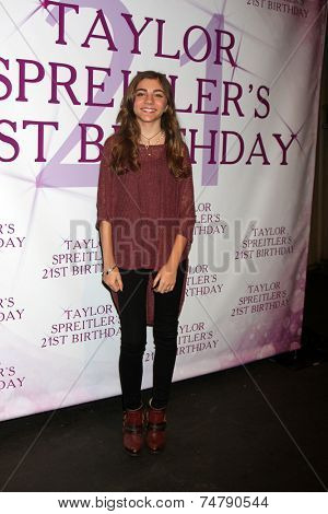LOS ANGELES - OCT 25:  Jada Facer at the Taylor Spreitler's 21st Birthday Party at the CBS Radford Studios on October 25, 2014 in Studio City, CA