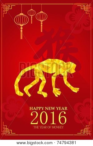 Chinese New Year Design For Year Of Monkey