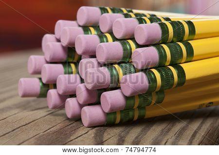 Pencil erasers macro