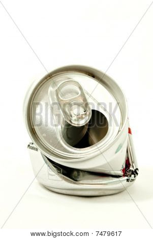 crushed can of soda