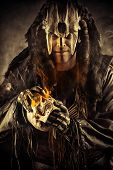 stock photo of shaman  - Ancient shaman warrior - JPG