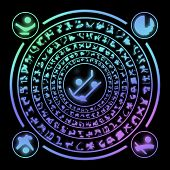 picture of rune  - Runes generated hires texture on black background - JPG