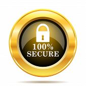 pic of 100 percent  - 100 percent secure icon - JPG