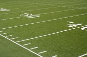 picture of football field  - Yard lines on a football field - JPG