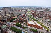 image of paul revere  - Aerial view of Boston North End - JPG