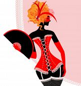 picture of mummer  - abstract carnival red - JPG