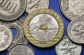 picture of mont saint michel  - Coins of France - JPG