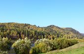 foto of kan  - Autumn scenery of the forest and the river Kan - JPG