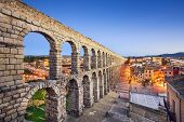 picture of aqueduct  - Segovia - JPG