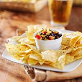 picture of poblano  - fire roasted black bean and corn salsa - JPG