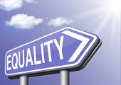 stock photo of equality  - equality for man and women and solidarity equal rights and opportunities no discrimination  - JPG