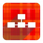 image of cisco  - database red flat icon isolated  - JPG