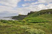 picture of kilts  - Cliffs south of Kilt Rock Staffin Isle of Skye - JPG
