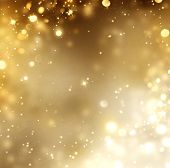 picture of glowing  - Christmas Gold Background - JPG