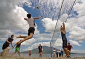 Beach Volleyball spike