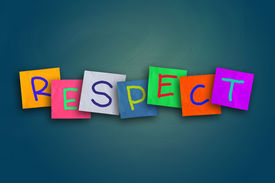 foto of respect  - The word Respect written on sticky colored paper - JPG
