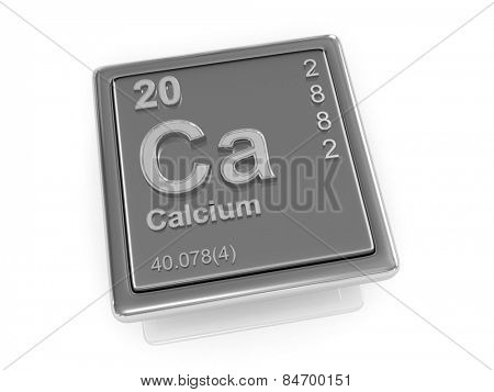 Calcium. Chemical element. 3d