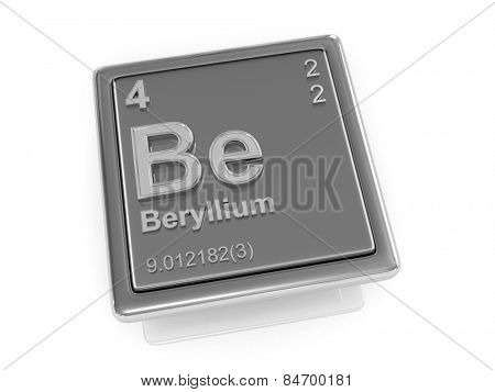 Beryllium. Chemical element. 3d