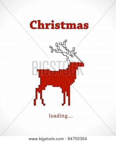 Christmas reindeer progress loading bar