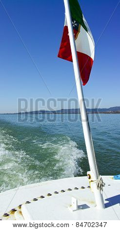 Steamer In Trasimeno Lake