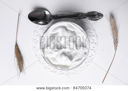 Greek yoghurt on the table