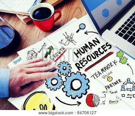Human Resources Employment Job Teamwork Office Working Concept