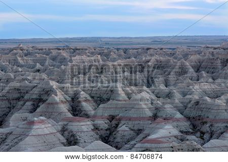 Landscape View Of The Badlands National Park