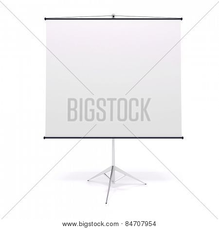 3d blank roll up on white background