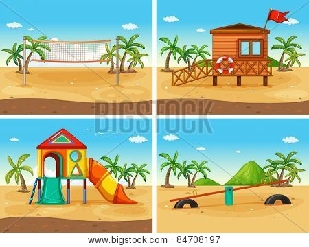 beach and playground