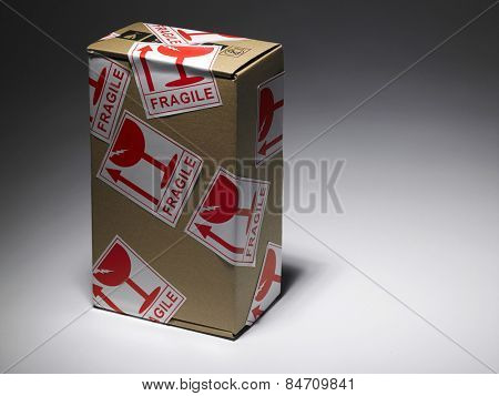 parcel with the fragile sticker