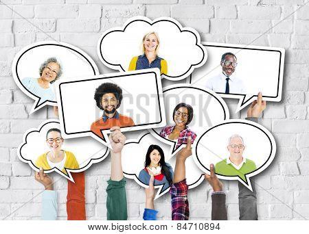 Diverse Diversity Ethnic Ethnicity Brick Brick Wall Unity Concept