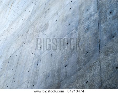Great big concrete wall. Focus on forehand wall.