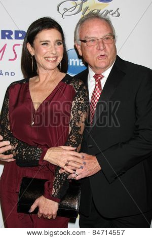 LOS ANGELES - FEB 22:  Mimi Rogers, Bill Smitrovich at the Night of 100 Stars Oscar Viewing Party at the Beverly Hilton Hotel on February 22, 2015 in Beverly Hills, CA