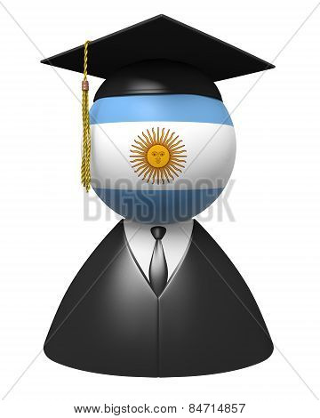 Argentina college graduate concept for schools and academic education