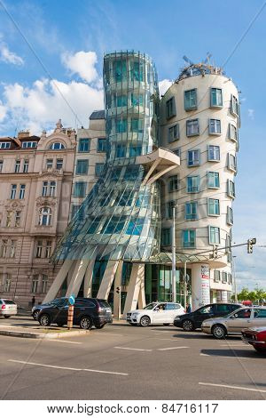Prague - MAY 9, 2014: Dancing House on May 9 in Prague, Chech Republic. Dancing house is one of the most popular tourist attractions in Prague
