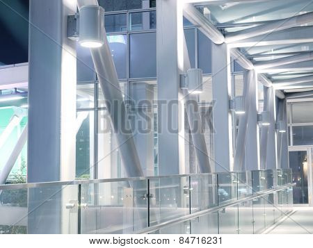 Bright elevated walkway