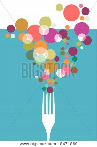 Cutlery restaurant menu design.