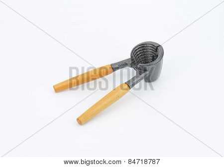 pastry form tongs on white background