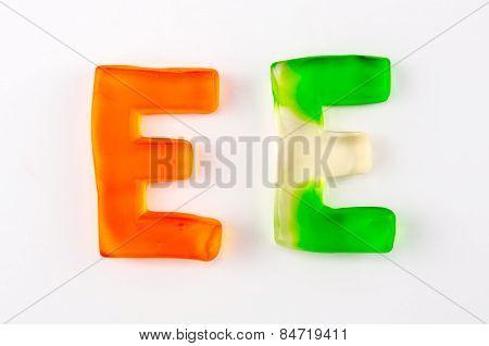 Gummy Letters E